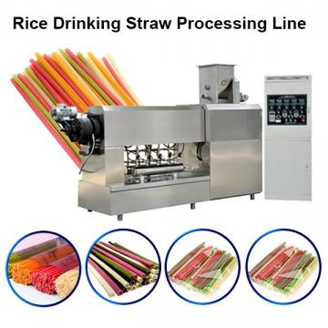 Fully automatic rice drinking straw making machine