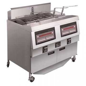 Industrial Stainless Steel Twin Tank Deep Fat Fryer French Chiken Fish Fried Factory Direct Sale